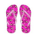 Silly Monkeys Flip Flops - Hot Pink