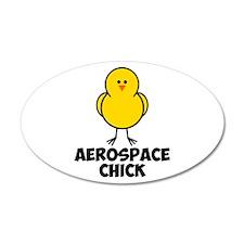 Aerospace Chick 22x14 Oval Wall Peel