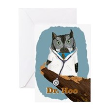 Dr. Hoo withText Greeting Card