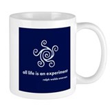 Life Is Experiment (blue) Small Mug