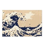 Pixel Tsunami Great Wave 8 Bit Art Postcards (Pack