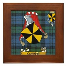 Campbell Scottish Family Name Framed Tile