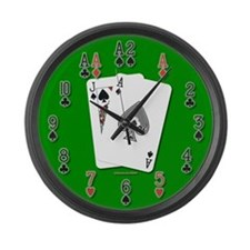 Blackjack 21 Large Wall Clock