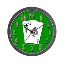 Blackjack 21 Wall Clock