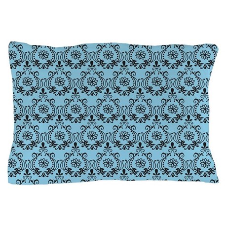 Flourish Romantic Blue Pillow Case