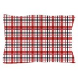 Plaid Basic Red Pillow Case