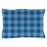 Plaid Blue Pillow Case