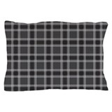 Plaid Classic Black Pillow Case