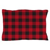 Plaid Red Pillow Case