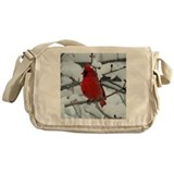 Snow Cardinal Messenger Bag