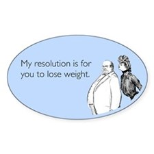 Weight Loss Resolution Sticker (Oval)
