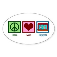 Peace Love Puppets Decal