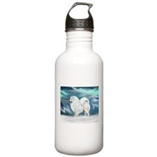 Samoyed and Northern Lights Water Bottle