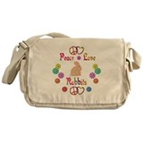 Peace Love Rabbits Messenger Bag