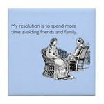Avoiding Friends & Family Tile Coaster