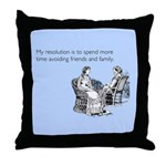 Avoiding Friends & Family Throw Pillow