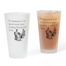 Avoiding Friends & Family Drinking Glass