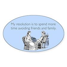 Avoiding Friends & Family Sticker (Oval)