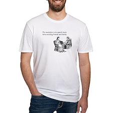Avoiding Friends & Family Fitted T-Shirt