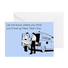 New Years Ambulance Greeting Card