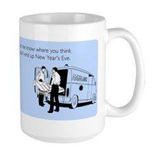 New Years Ambulance Large Mug
