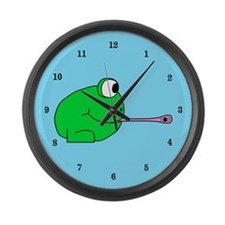 Frog and Fly Large Wall Clock