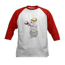Baseball Snowman Tee
