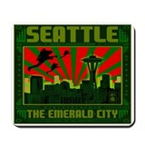 SEATTLE THE EMERALD CITY Mousepad