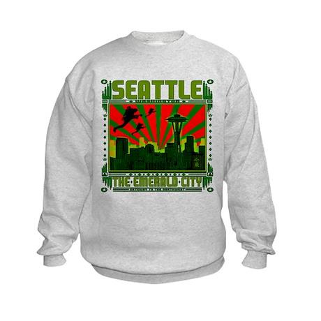 SEATTLE THE EMERALD CITY Kids Sweatshirt