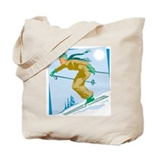 Retro Fifties Skier Tote Bag