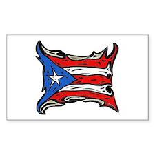 Puerto Rico Heat Flag Rectangle Stickers