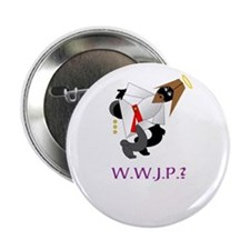 "WHAT WOULD JESUS POO? 2.25"" Button (100 pack)"