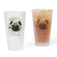 Pug Dog Drinking Glass