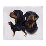 Rottweiler Throw Blanket