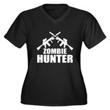 Zombie Hunter Women's Plus Size V-Neck Dark T-Shir