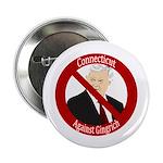 Connecticut Against Gingrich button