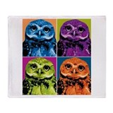 Pop Owl Throw Blanket