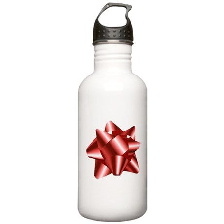 Christmas Red Bow Stainless Water Bottle 1.0L