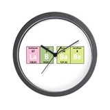 Chemistry Lab Babe Wall Clock