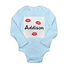 kiss addison Long Sleeve Infant Bodysuit