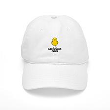 Saxophone Chick Baseball Cap