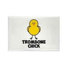 Trombone Chick Rectangle Magnet (100 pack)