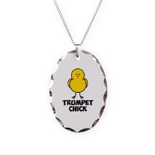 Trumpet Chick Necklace Oval Charm