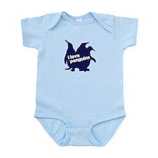 i love penguins Infant Bodysuit