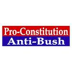 Constitutional Anti-Bush Bumper Sticker