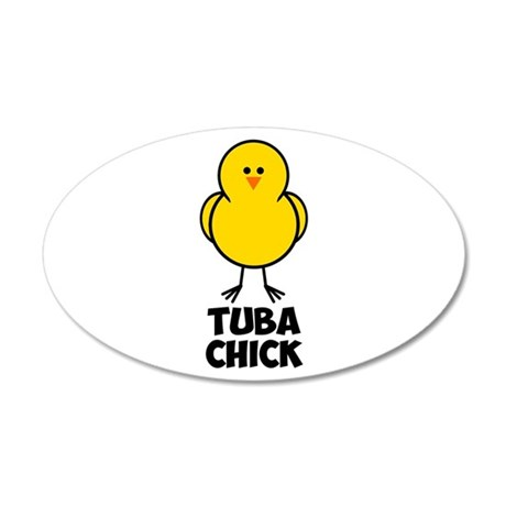 Tuba Chick 22x14 Oval Wall Peel
