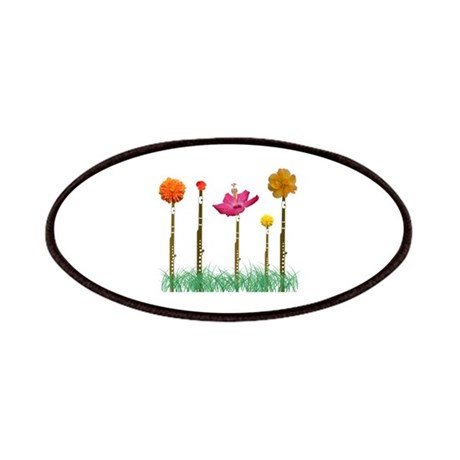 Flute Flowers Patches