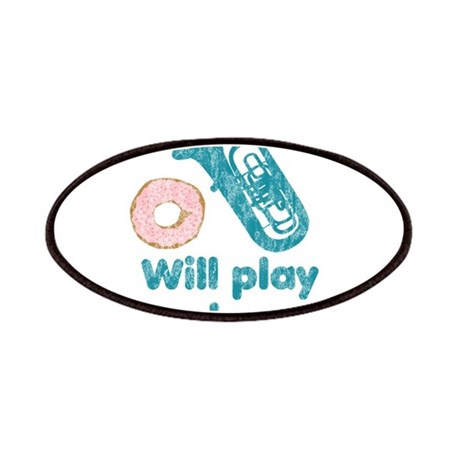 Will Play Tuba for Donuts Patches