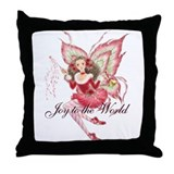 Xmas Ballet Fairy Throw Pillow