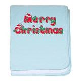 Merry Christmas baby blanket